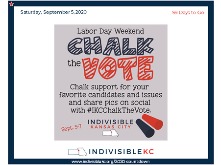 Share your pics at #IKCChalkTheVote!