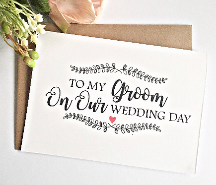 Rustic Groom Wedding Day Card