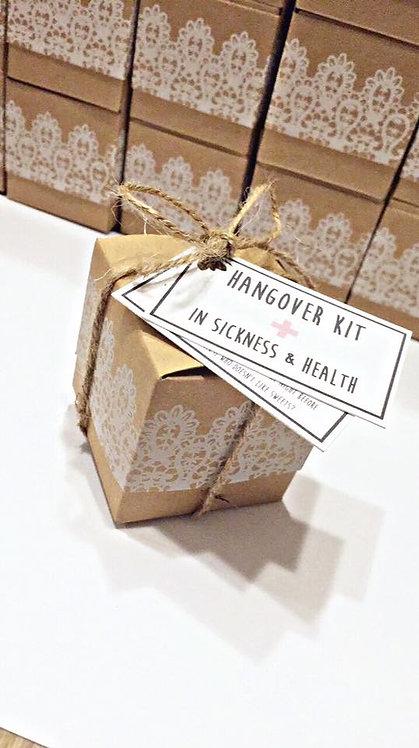 Rustic Boxed Hangover Kits
