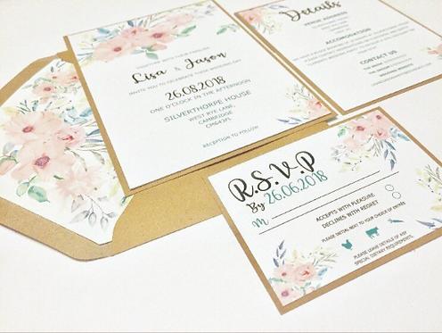 Rustic Floral Invitation Suite Sample