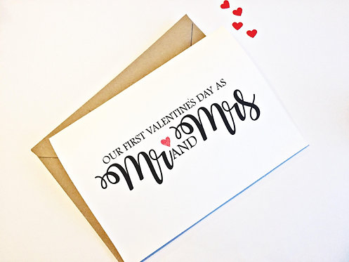First Valentines as Mr and Mrs Card