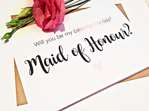 Will you be my (Bitch for the day) Maid of Honour Card