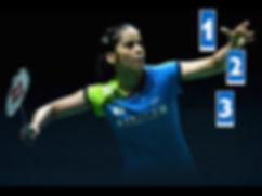 badminton player.