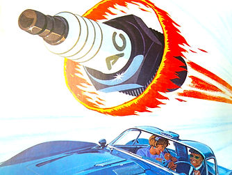 energy spark plug car sixties.
