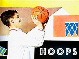 basketball hoop shooting sports fifties.