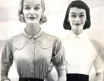 two robotic fifties women.