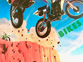 Bikes jumping off cliff eighties.