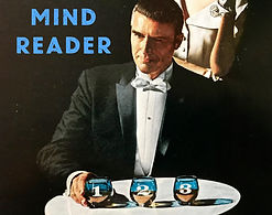 mind reader and magician performs trick.
