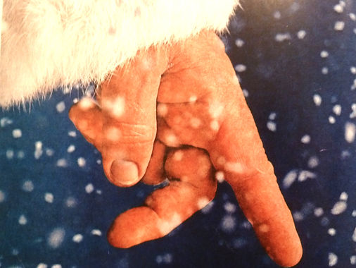 Father christmas and his fingers.
