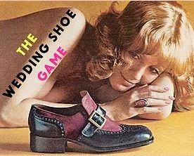 The wedding shoe game vintage retro quiz.