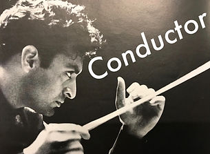 music conducter with baton.