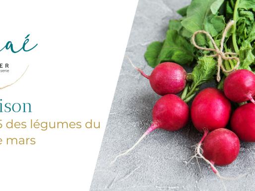 Top 5 des légumes du mois de mars