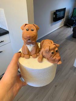 Edible dog figures
