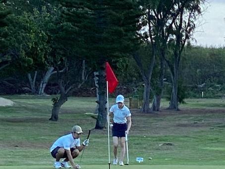 ハワイカイゴルフクラブにて練習ラウンド