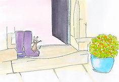 Mouse on Yorkshire doorstep