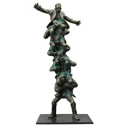 """""""Manpower"""" Bronze Business Sculpture by Jim Rennert"""