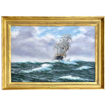 """Tea Clipper In High Seas"" by Henry Scott"