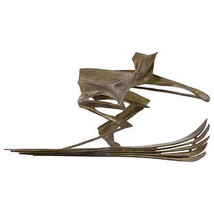 Bronze Skiing Sculpture by Robert Cook