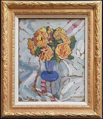 """""""Flowers in a Blue Vase"""" by Jac Martin-Ferrieres"""
