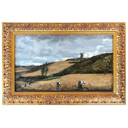 """The Harvest, Brittany""  Julian Alden Weir, Exhibited"