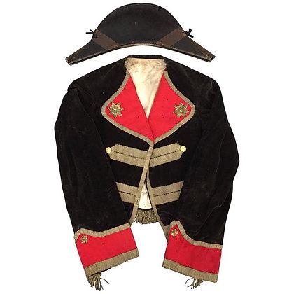 Scarce American War of 1812 Uniform and Bicorn Hat
