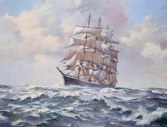 """Barque at Sea"" by George Shaw"