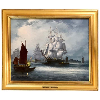 """""""The Oriental and Pagoda at Anchor"""" by John Bentham-Dinsdale"""