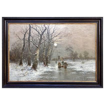 """On the Frozen Canal"" by Johann Jungblut"