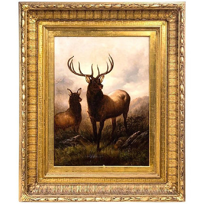 """Monarch of the Glen"" by Henry Collins Bispham"