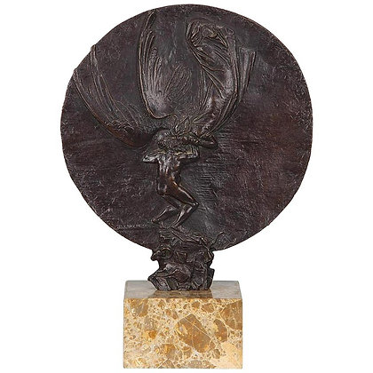 """""""Jacob and the Angel"""" Bronze Sculpture by Bruno Lucchesi"""