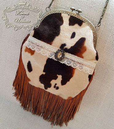 Cow Fringe Bag