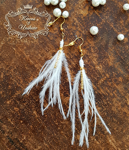 Golden Feather Ohrhänger