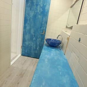 美容室②/什器・扉エージング 木に塗装