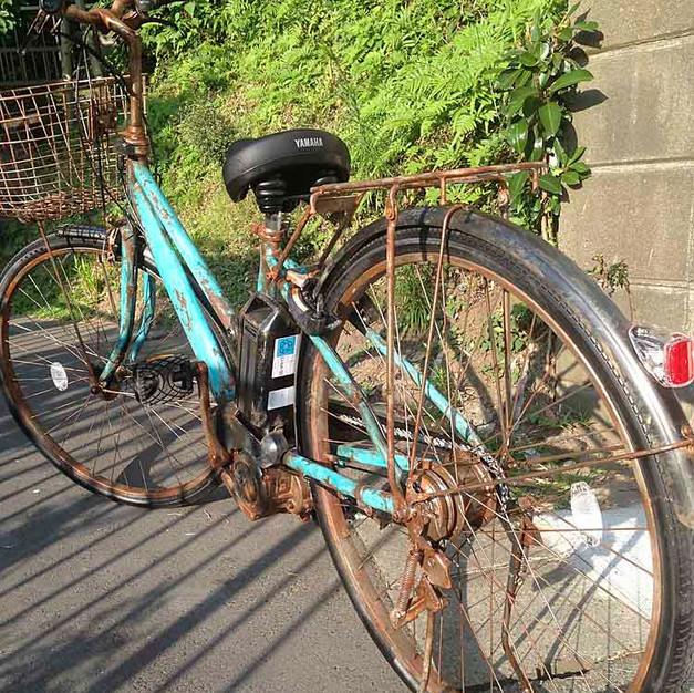 個人所有/電動アシスト自転車 エージング塗装