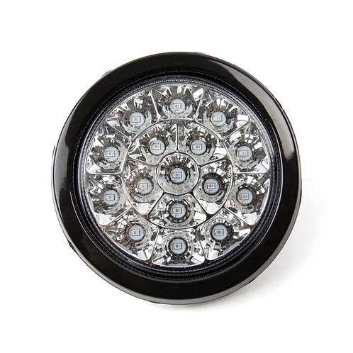 TURN SIGNAL LED LIGHT CHROME CLEAR  WITH RUBBER