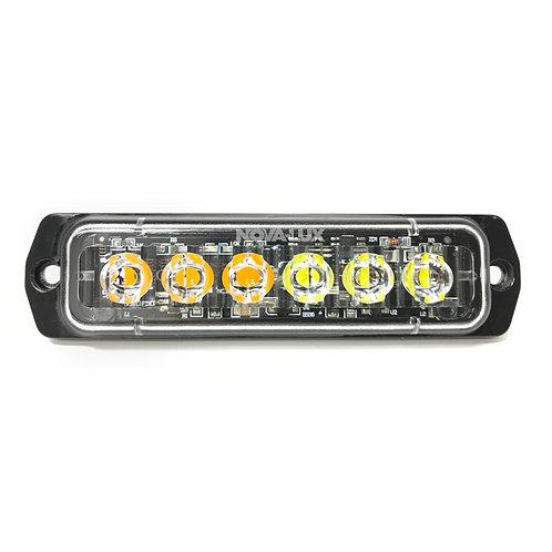 SLIM MINI STROBE 6 HIGH POWER LED'S DUAL COLOR
