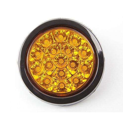 TURN SIGNAL LED LIGHT CHROME  WITH RUBBER GROMMET
