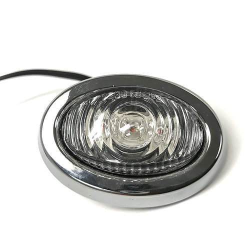 OVAL MINI LED MARKER LIGHT AMBER CLEAR W/BEZEL
