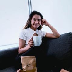 Enjoying a cup