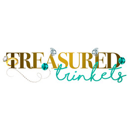 treasure trinkets logo light blue white.