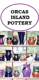 Orcas Island Pottery logo and link.
