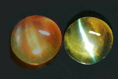 Natural Alexandrite cats eye 3 cts color change with Sharp eye transparent