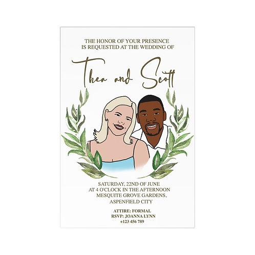 Custom Cartoon Wedding Invitation