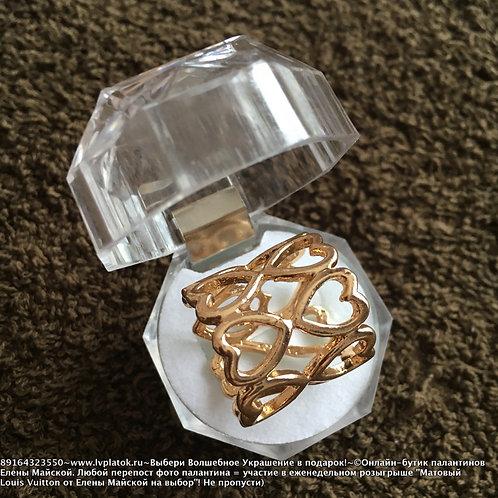 Позолоченный Цилиндр Сердце Для Шарфа или Платка