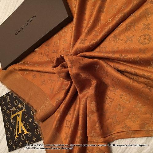 Louis Vuitton Monogram Shine Шаль Горчица/Золото