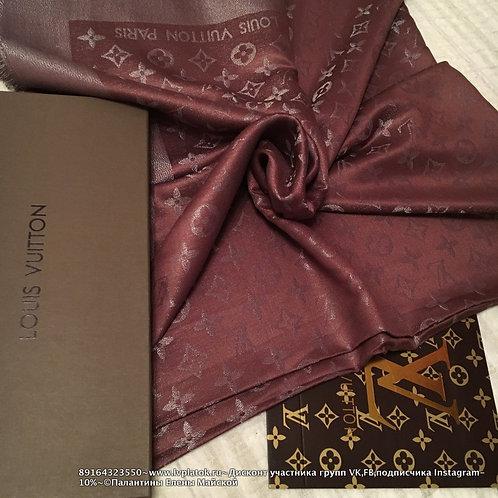 Louis Vuitton Monogram Shine Шаль Шоколад/Серебро