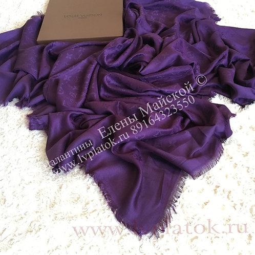 Новая Louis Vuitton Monogram DenimШаль Фиолетовая
