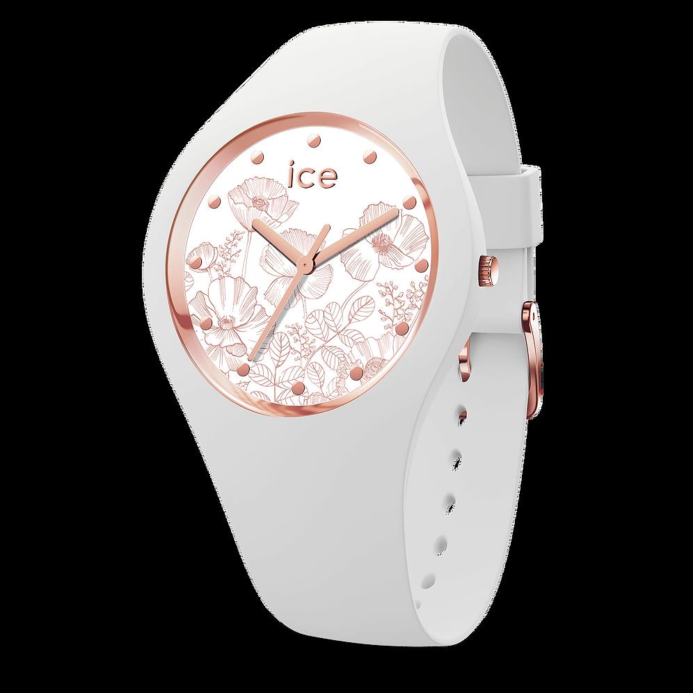 Ice Medium Spring Watch 016669 White Flower CWBeQdxor