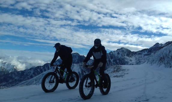 En duo fat bike à Luz Ardiden