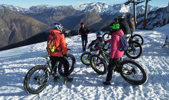 Fat Bike à Luz Ardiden